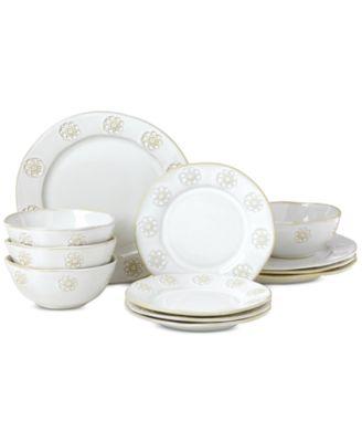 Lenox-Wainwright Boho Garden 12-Pc. Dinnerware Set, Service for 4, Created for Macy's