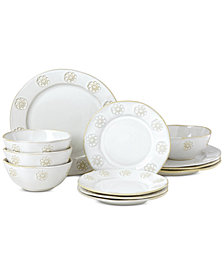 Lenox-Wainwright Boho Garden 12-Pc. Dinnerware Set, Service for 4, Created for Macy's