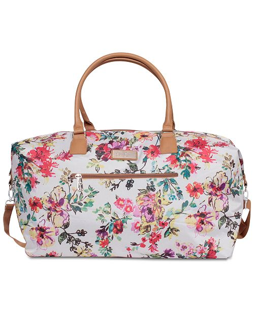 Jessica Simpson French Floral Duffel Bag - Luggage - Macy s ff9ce7987a89c