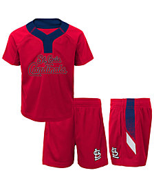 Outerstuff St. Louis Cardinals Ground Rules Short Set, Toddler Boys (2T-4T)