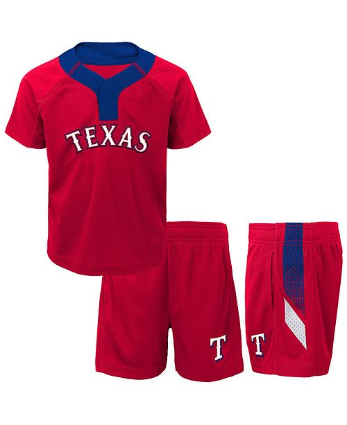 new arrival f0594 59d2e Outerstuff Texas Rangers Ground Rules Short Set, Toddler ...
