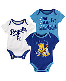 Outerstuff Kansas City Royals Play Ball 3-Piece Set, Infants (0-9 Months)