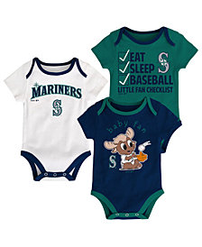 Outerstuff Seattle Mariners Play Ball 3-Piece Set, Infants (0-9 Months)