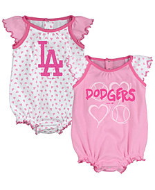 Outerstuff Los Angeles Dodgers Heart Creeper Set, Infants (0-9 Months)