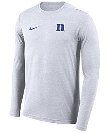 Nike Men's Duke Blue Devils Long Sleeve Dri-Fit Coaches T-Shirt