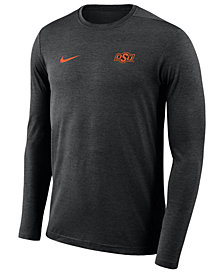 Nike Men's Oklahoma State Cowboys Long Sleeve Dri-Fit Coaches T-Shirt