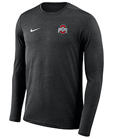 Nike Men's Ohio State Buckeyes Long Sleeve Dri-Fit Coaches T-Shirt