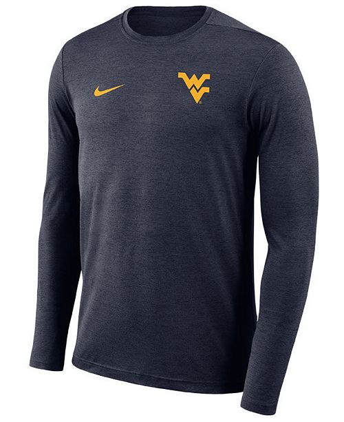 0b7579431287 ... Nike Men s West Virginia Mountaineers Long Sleeve Dri-Fit Coaches T- ...