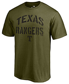 Majestic Men's Texas Rangers Stencil Wordmark T-Shirt
