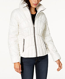 GUESS Stand-Collar Puffer Coat