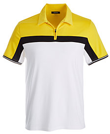 Alfani Men's Colorblocked Cotton Polo, Created for Macy's