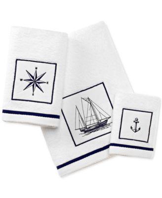 Cape Island Cotton Embroidered Appliqué Bath Towel