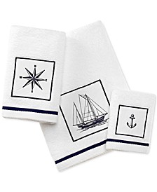 Cape Island Cotton Embroidered Appliqué Bath Towel Collection