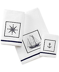 City Scene Cape Island Cotton Embroidered Appliqué Bath Towel Collection