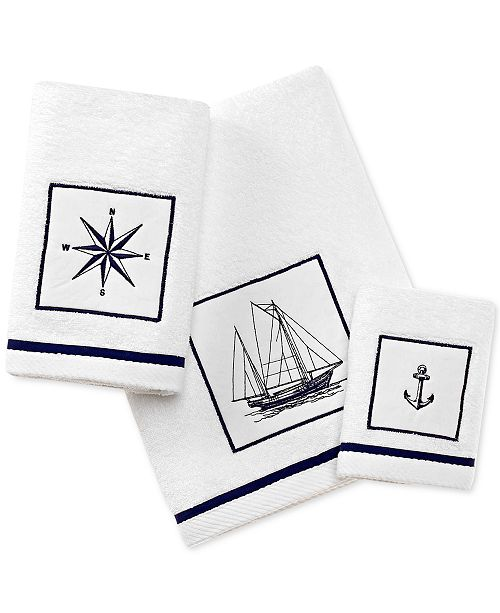 City Scene Cape Island Cotton Embroidered Appliqué Hand Towel