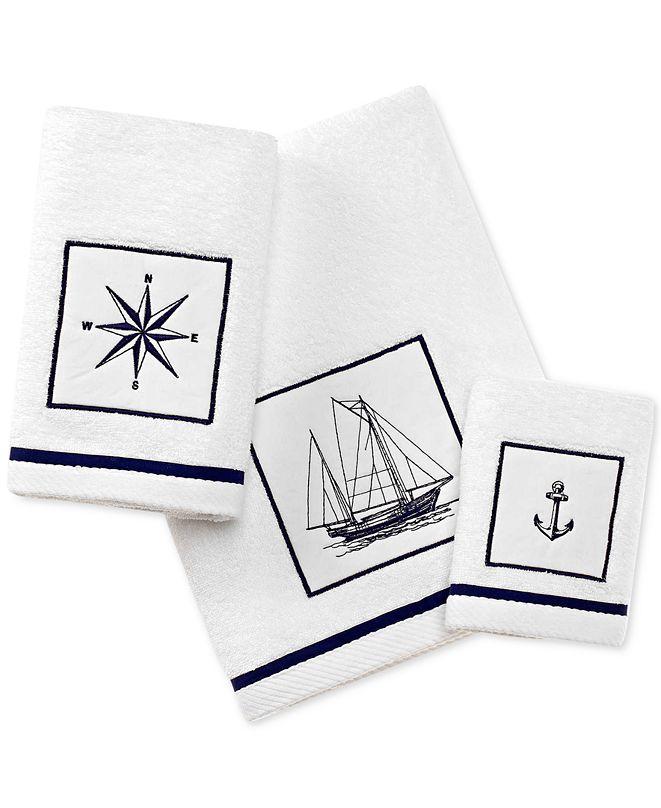 City Scene Cape Island Cotton Embroidered Appliqué Bath Towel