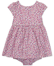 Ralph Lauren Baby Girls Floral Cotton Fit & Flare Dress
