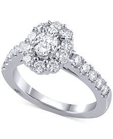 Marchesa Diamond Halo Bridal Set (2 ct. t.w.) in 14k White Gold
