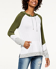 Hippie Rose Juniors' Colorblocked Pullover Hoodie