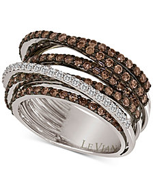 Le Vian Chocolatier® Multi-Band Diamond Ring (2-1/3 ct. t.w.) in 14k White Gold