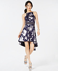 City Studios Juniors' Printed High-Low Dress
