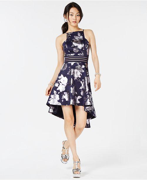 4359edfb5 City Studios Juniors  Printed High-Low Dress   Reviews - Dresses ...