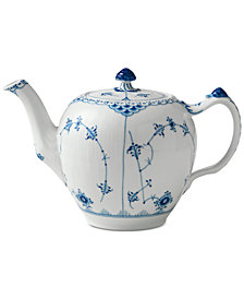Royal Copenhagen Blue Fluted Half Lace Teapot