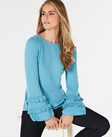 Charter Club Ruffled Cashmere Sweater, Created for Macy's