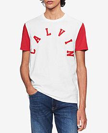 Calvin Klein Jeans Men's College Colorblocked Logo Graphic T-Shirt