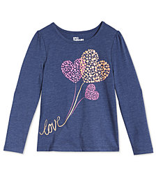 Epic Threads Toddler Girls Long-Sleeve Love Hearts T-Shirt, Created for Macy's