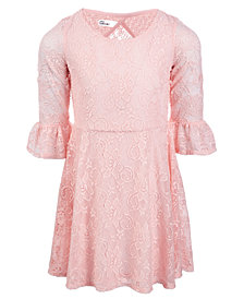 Epic Threads Little Girls Lace Bell Sleeve Dress, Created for Macy's