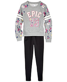 Epic Threads Big Girls Sweatshirt & Tuxedo Pants, Created for Macy's
