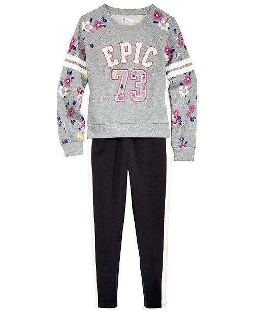 Epic Threads Big Girls Sweatshirt & Tuxedo Pants, Created for Macy's