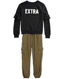 Epic Threads Big Girls Ruffled Sweatshirt & Jogger Pants, Created for Macy's