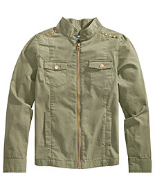 Epic Threads Big Girls Cotton Canvas Jacket, Created for Macy's