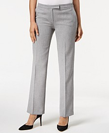 Straight-Leg Trouser Pants, Regular & Petite Sizes