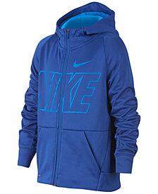 Nike Big Boys Therma Zip-Up Logo Hoodie