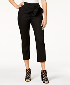 Be Bop Juniors' Tie-Waist Cropped Pants