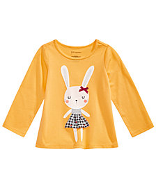 First Impressions Toddler Girls Bunny Print Graphic T-Shirt, Created for Macy's