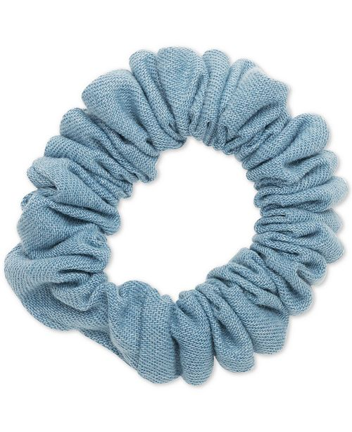 The Finest Accessories France Luxe Denim Ponytail Holder