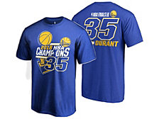 Majestic Men's Kevin Durant Golden State Warriors Finals Champ Name and Number T-Shirt