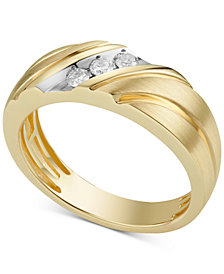 Men's Diamond Band (1/5 ct. t.w.) in 10k Gold