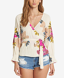 Billabong Juniors' Printed Wrap Blouse