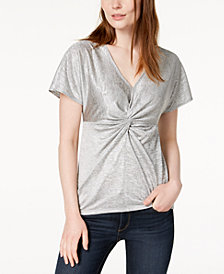 Bar III Twist-Front Top, Created for Macy's