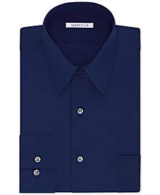 Van Heusen Men's Big Classic/Regular Fit Wrinkle Free Poplin Solid Dress Shirt