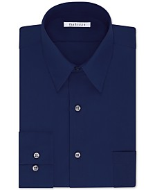 Van Heusen Men's Classic/Regular Fit Wrinkle Free Poplin Solid Dress Shirt
