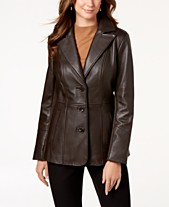 f655d4a520a Jones New York V-Stitched Leather Jacket
