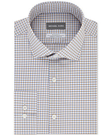 Michael Kors Men's Slim-Fit Non-Iron Airsoft Stretch Performance Check Dress Shirt
