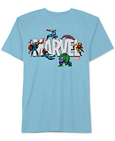 Hybrid Men's Marvel Action Logo Graphic T-Shirt