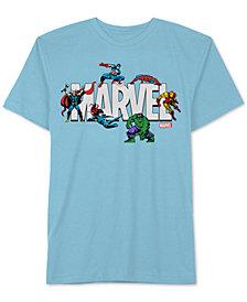 Hybrid Men's Marvel Action Logo Graphic T-Shirt